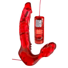 Buy Toy Joy Bend Over Boyfriend Red Strapless Strap On Online