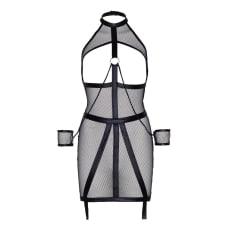 Buy Leg Avenue KINK Wet Look Fishnet Open Bondage Dress Online