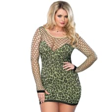 Buy Leg Avenue Seamless Leopard Minidress UK 16-18 Online