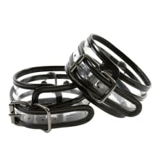 Buy Bare Bondage Clear Vinyl Wrist Cuffs Online