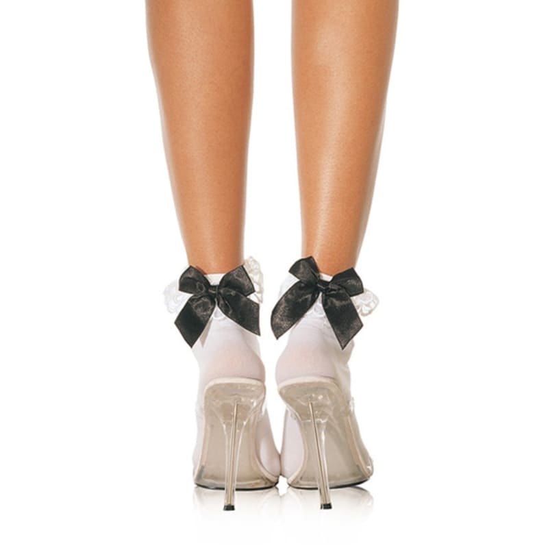 Thumb for main image Leg Avenue Ruffle with Satin Bows Anklet
