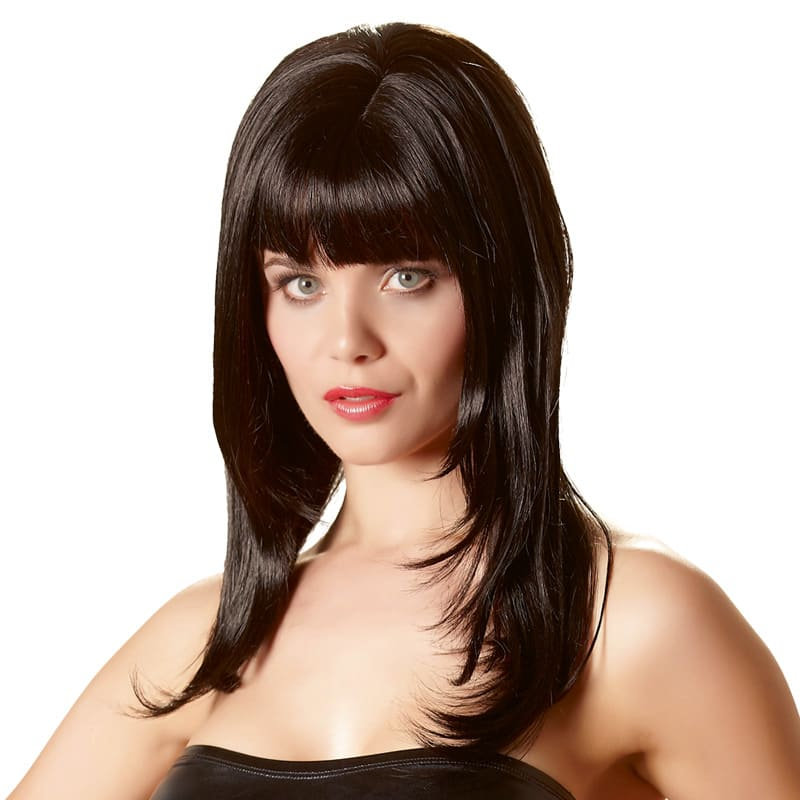 Full size image of Long Black Wig