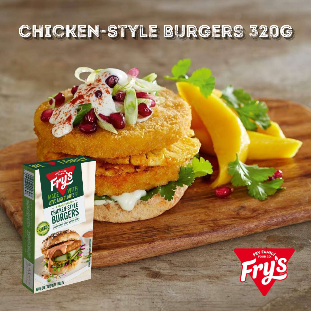 Fry's Chicken Style Burgers 4pc 320g