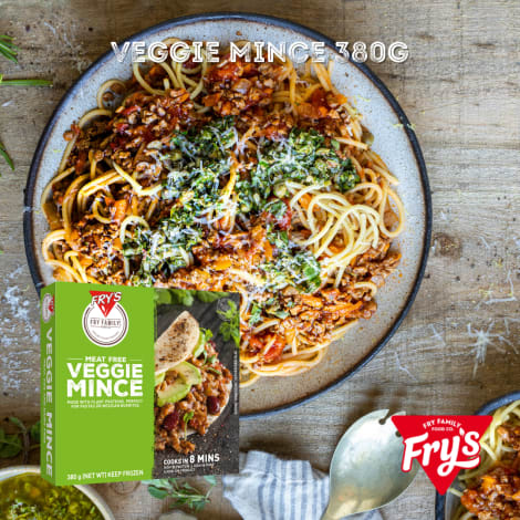 Fry's Veggie Mince 380g - Nothing beats a Mexican burrito made with our meat-free mince. Just add some beans, guacamole and sal…