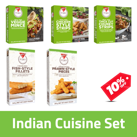Fry's Indian Cuisine Pack - Fry's Indian Cuisine Pack Contains: Fry's Veggie Mince x1, Fry's Chicken Style Strips x1, Fry's Thi…