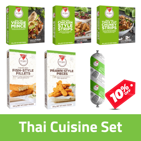 Fry's Thai Cuisine Pack - Fry's Thai Cuisine Pack Contains: Fry's Veggie Mince x1, Fry's Chicken Style Strips x1, Fry's Thick C…