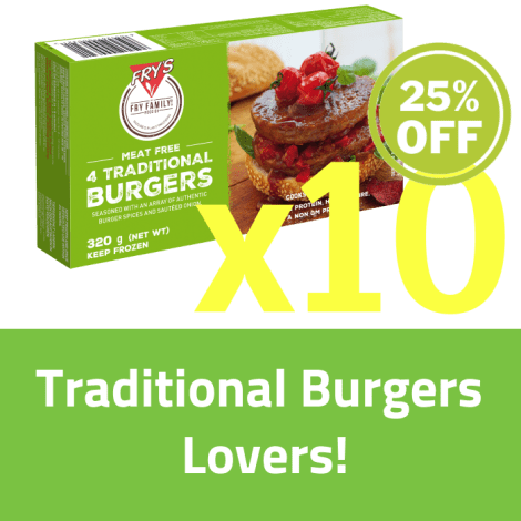Fry's Traditional Burger SET 10 x 320g (Extended Shelf Life) - Fry's Traditional Burger SET 10 x 320g Set Contains: - Fry's Tra…