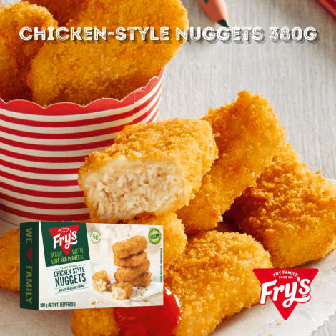 Fry's Chicken Style Nuggets 380g - The original nuggets, still made with the same unique recipe, have delighted Fry's fans arou…