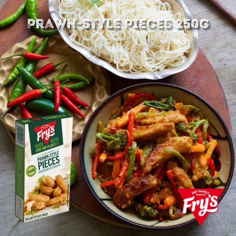 Fry's Battered Prawns 250g (Extended Shelf Life) - Make these prawns the hero of your next meal! Our succulent plant-based trea…