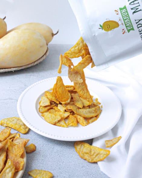 Crispy Mango (50g) - 100% Natural Mango No Sugar added No Preservatives  No Sodium  No Cholesterol