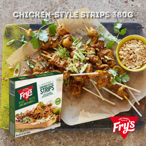 Fry's Chicken Style Strips  380g - Enjoy the juicy goodness of chicken strips with our veggie version! Any dish's flavour will …