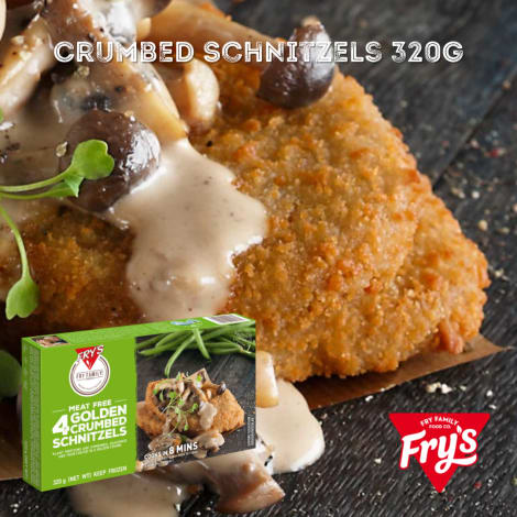 Fry's Golden Crumbed Schnitzels 4pc 320g - Oh my Schnitzel! Our favourite Schnitzeys are almost too good to be true. How can we…