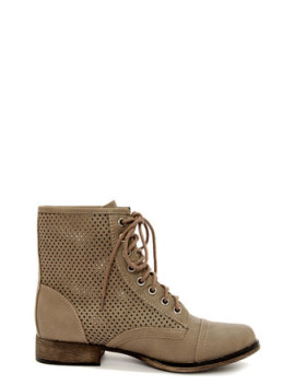 georgia-45-beige-perforated-lace-up-ankle-boots by lulus