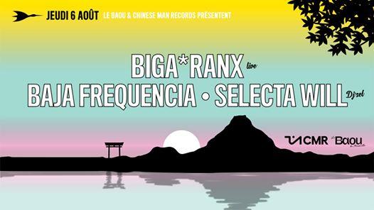 Baou invite Chinese Man Records/ Biga Ranx, Baja Frequencia