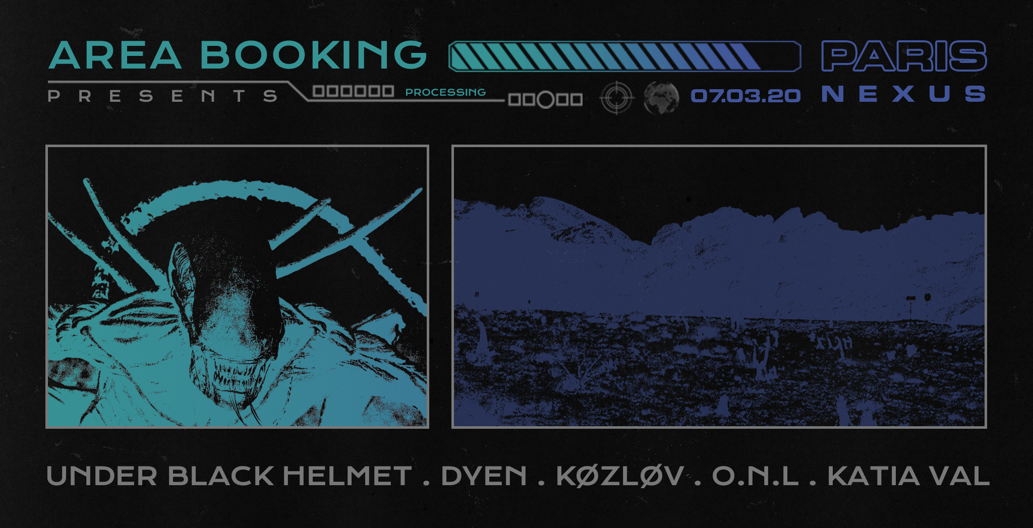 AREA Booking : Under Black Helmet, DYEN & guests