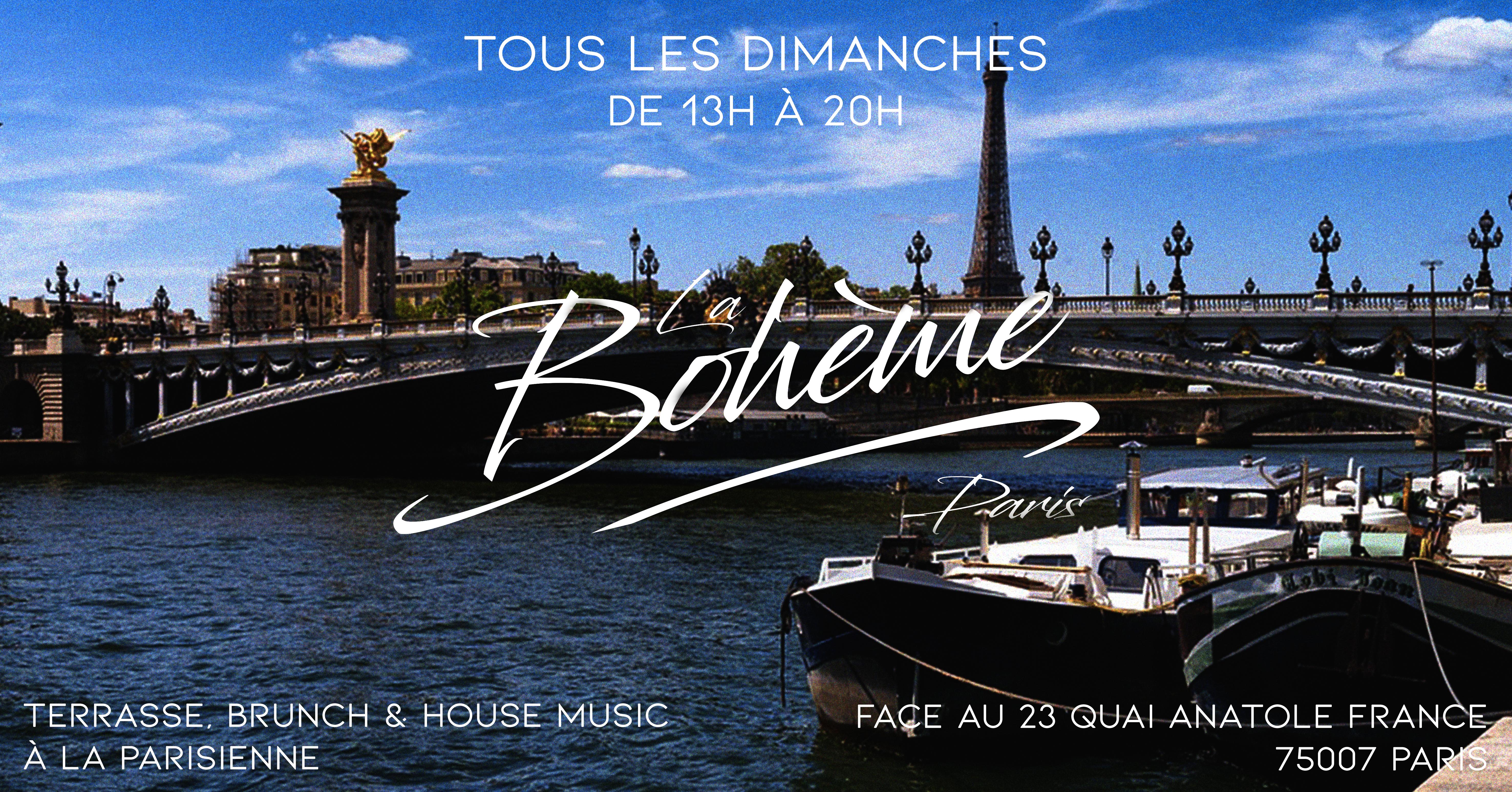 La Bohème Paris Brunch & House Music Grand Opening 11/08