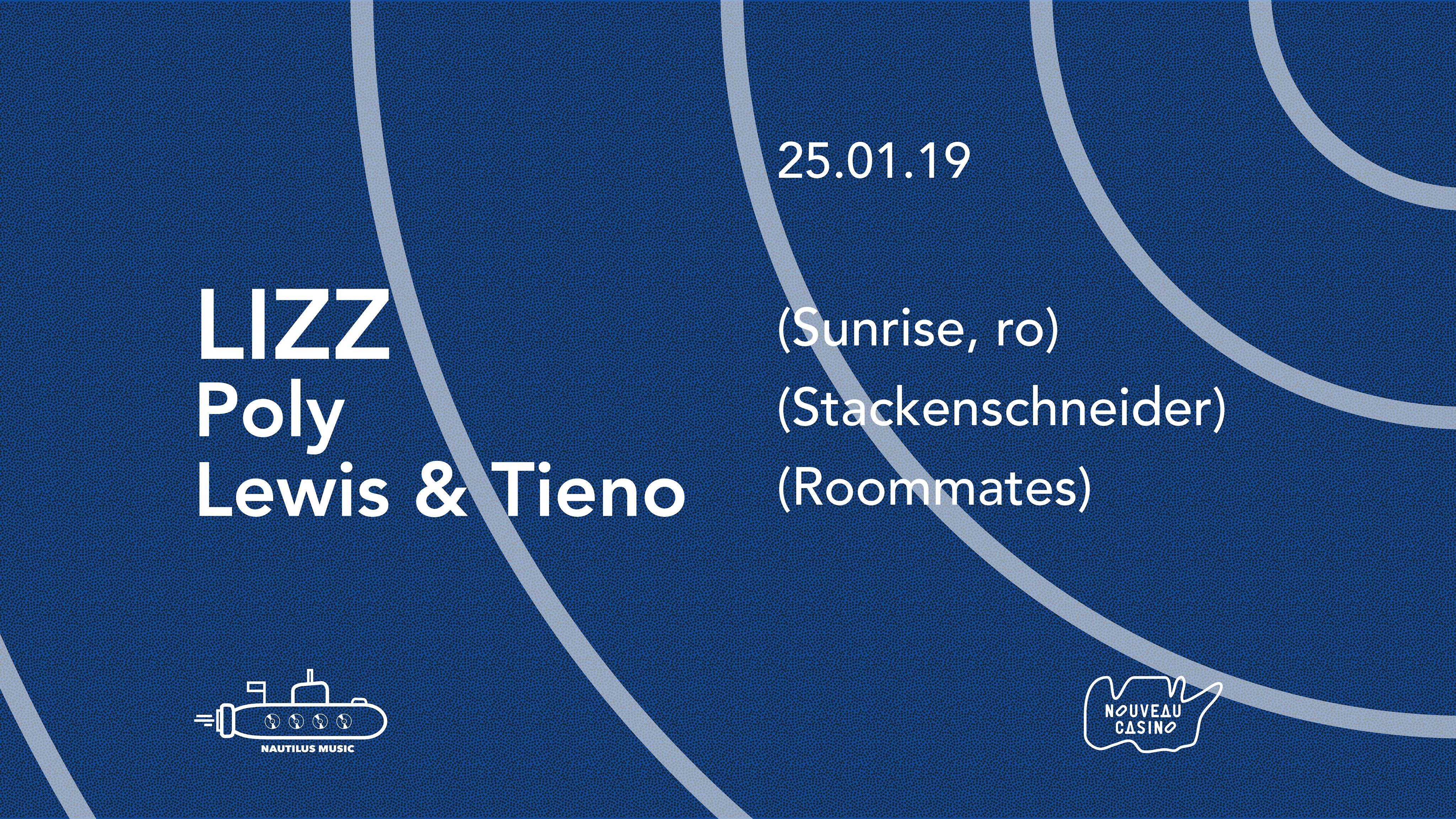 Nautilus invite : LIZZ / Poly / Lewis & Tieno
