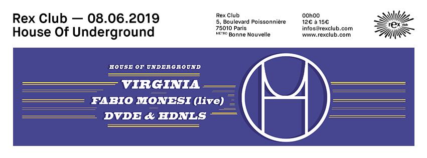 House Of Underground invite Virginia and Fabio Monesi (Live)