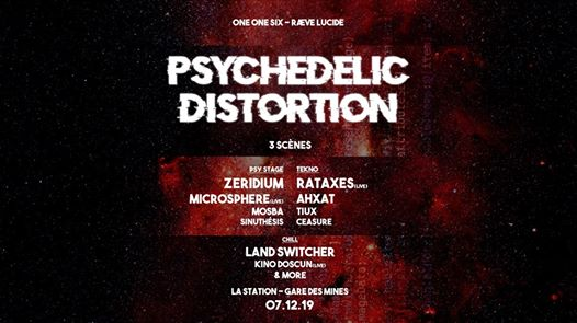 Psychedelic Distortion - 3 stages : Psytrance Tekno Chill