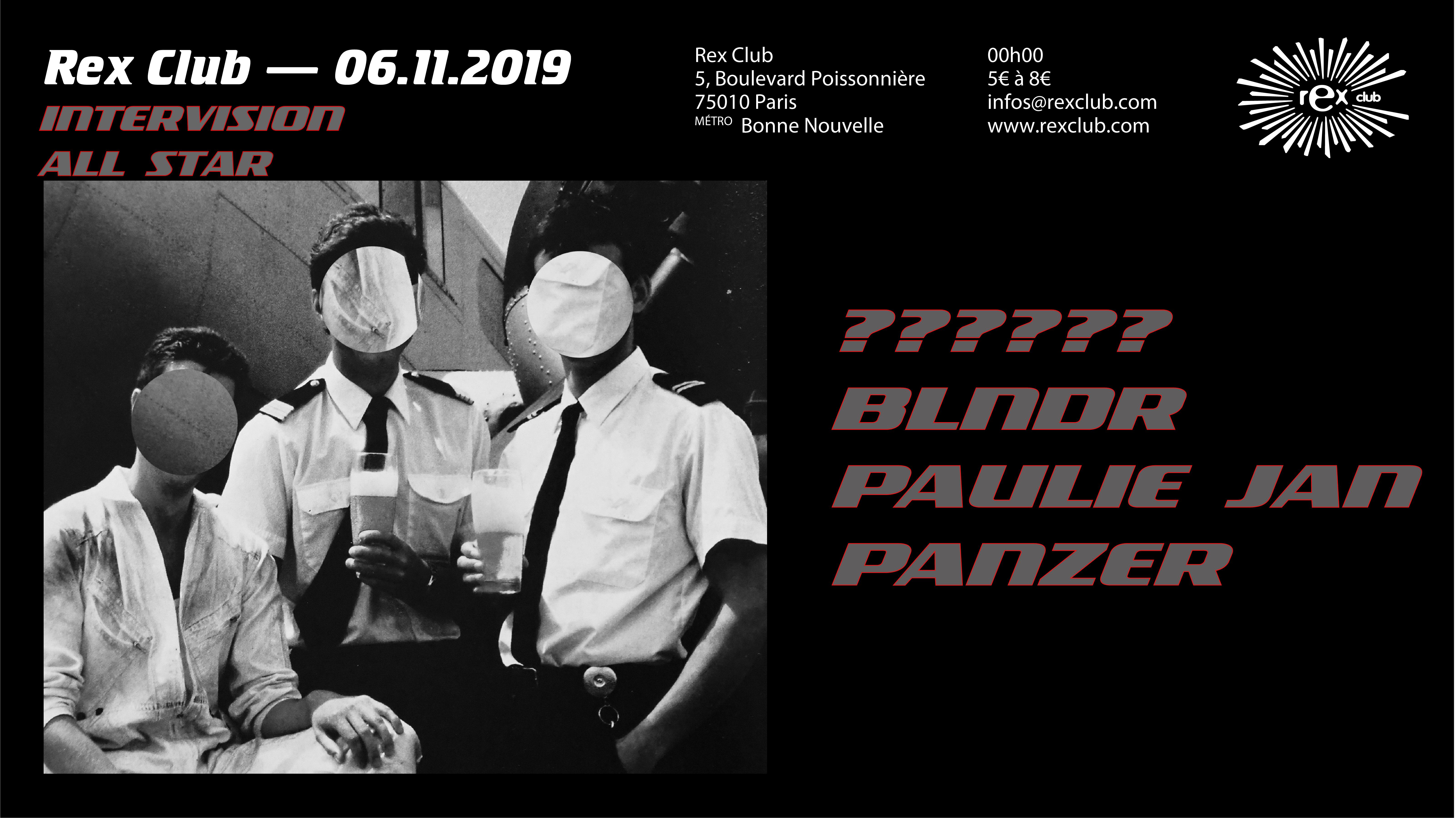 Intervision All Star: BLNDR, Paulie Jan, Panzer
