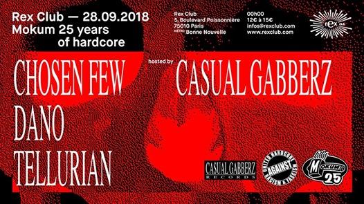 Mokum 25 Years Of Hardcore: Casual Gabberz, Chosen Few & more