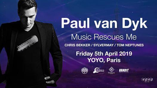 Crush : Paul van Dyk in Paris Music Rescues Me Tour