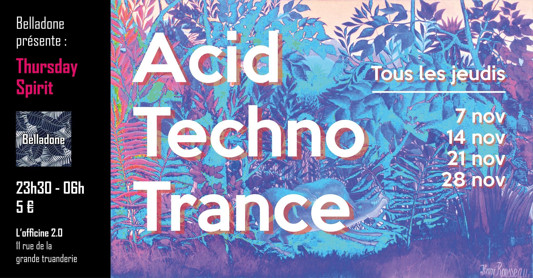 Thursday Spirit : Techno to Trance