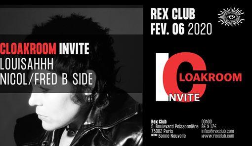 Cloakroom Invite: Louisahhh, Nicol, Fred B Side