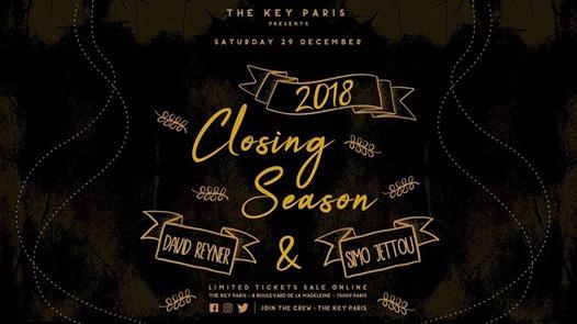 The Key Paris presents : Closing Season 2018 !