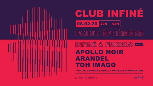 Club InFiné: Apollo Noir, Arandel, Toh Imago
