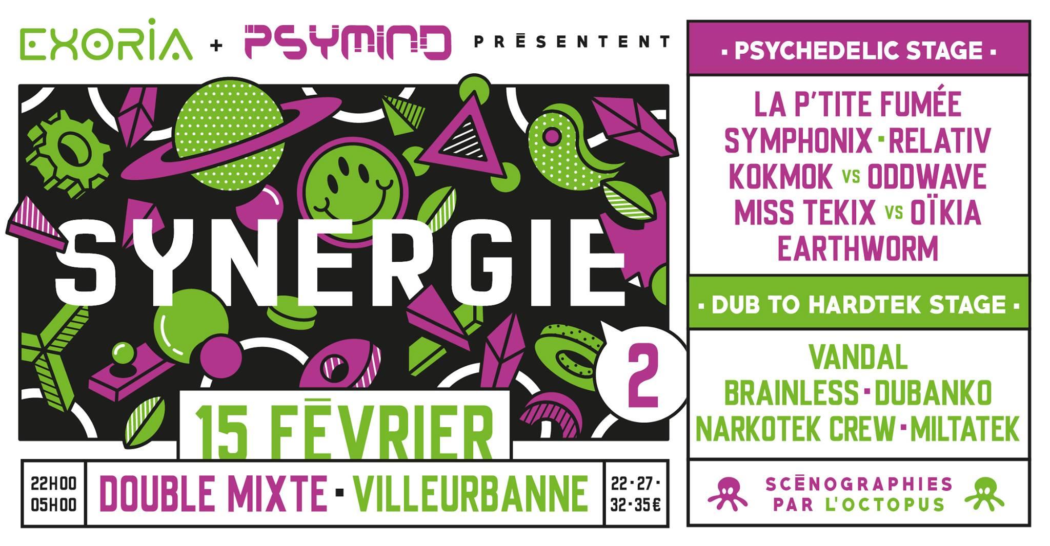 Synergie #2 | 2 Stages : Dub to Hardtek // Prog to Psytrance