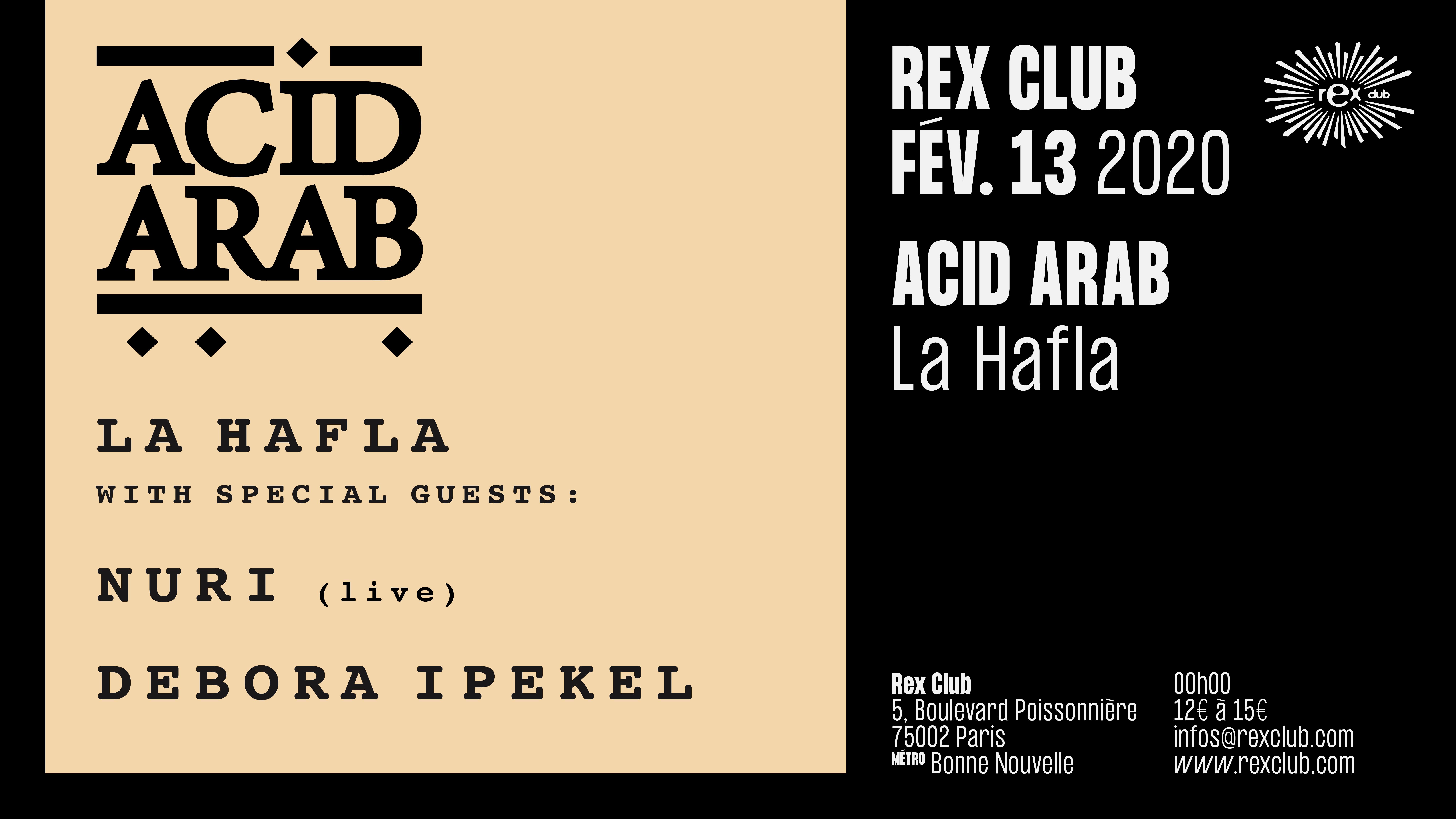 La Hafla: Acid Arab, Nuri (Live), Debora Ipekel