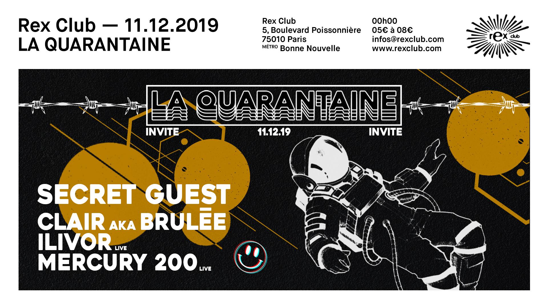 La Quarantaine: Trym, Clair aka Brulée, Ilivor, Mercury 200 Live