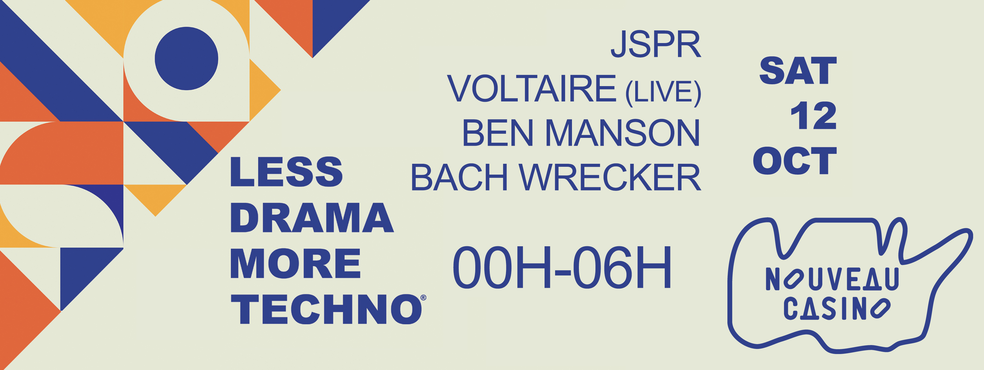 Less Drama More Techno feat JSPR, Voltaire & Ben Manson