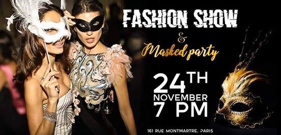 Paris accueille la plus grande soirée masquée+Défilé Mode Masqué