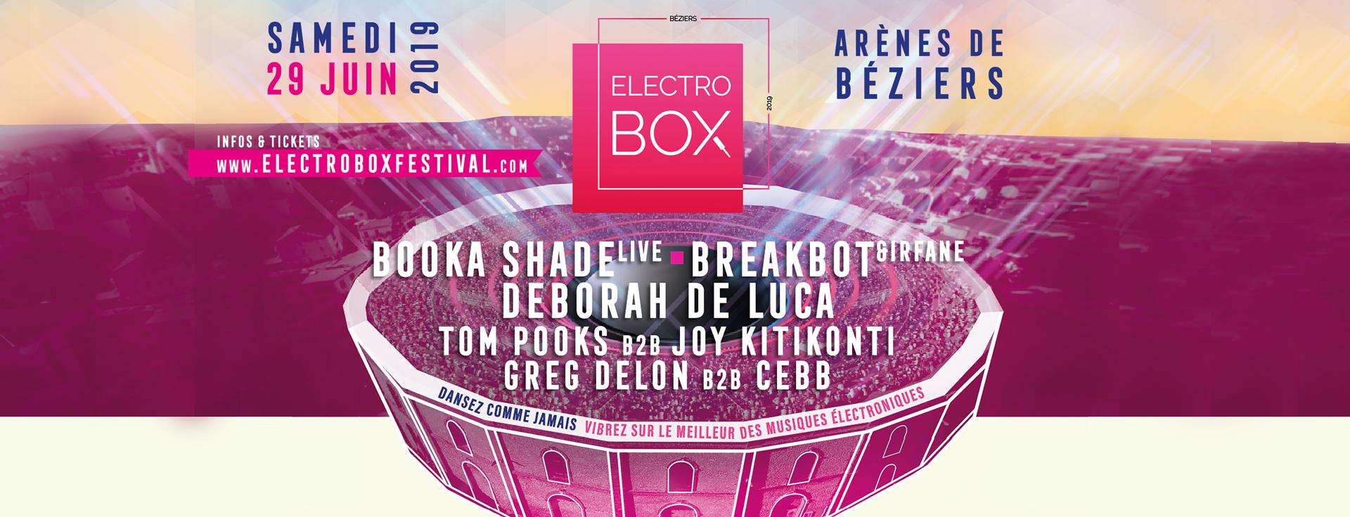 ElectroBox @ Arènes de Béziers w/ Booka Shade, Deborah de Luca, Breakbot...