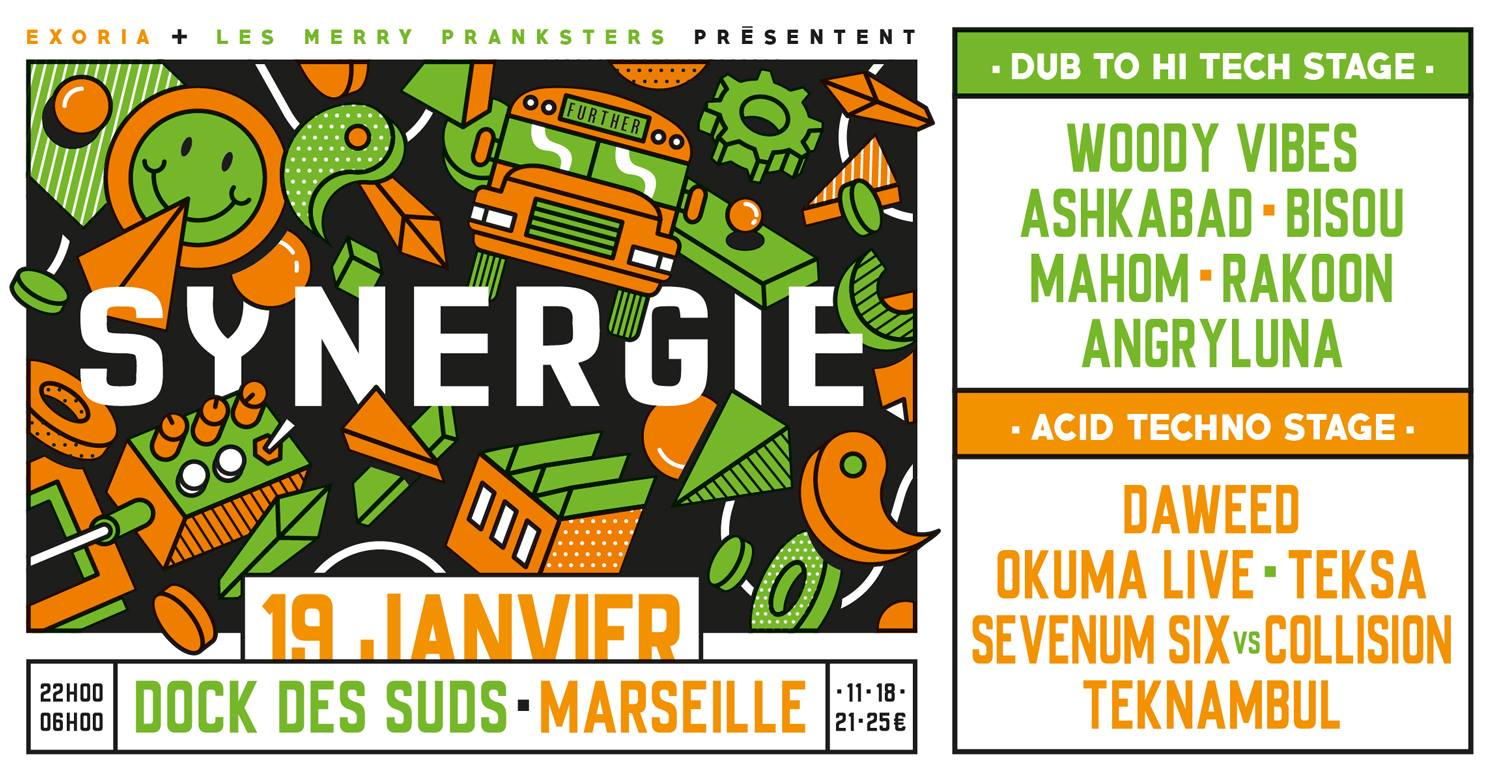 Synergie | 2 Stages : Dub to Hi-Tech // Acid Techno