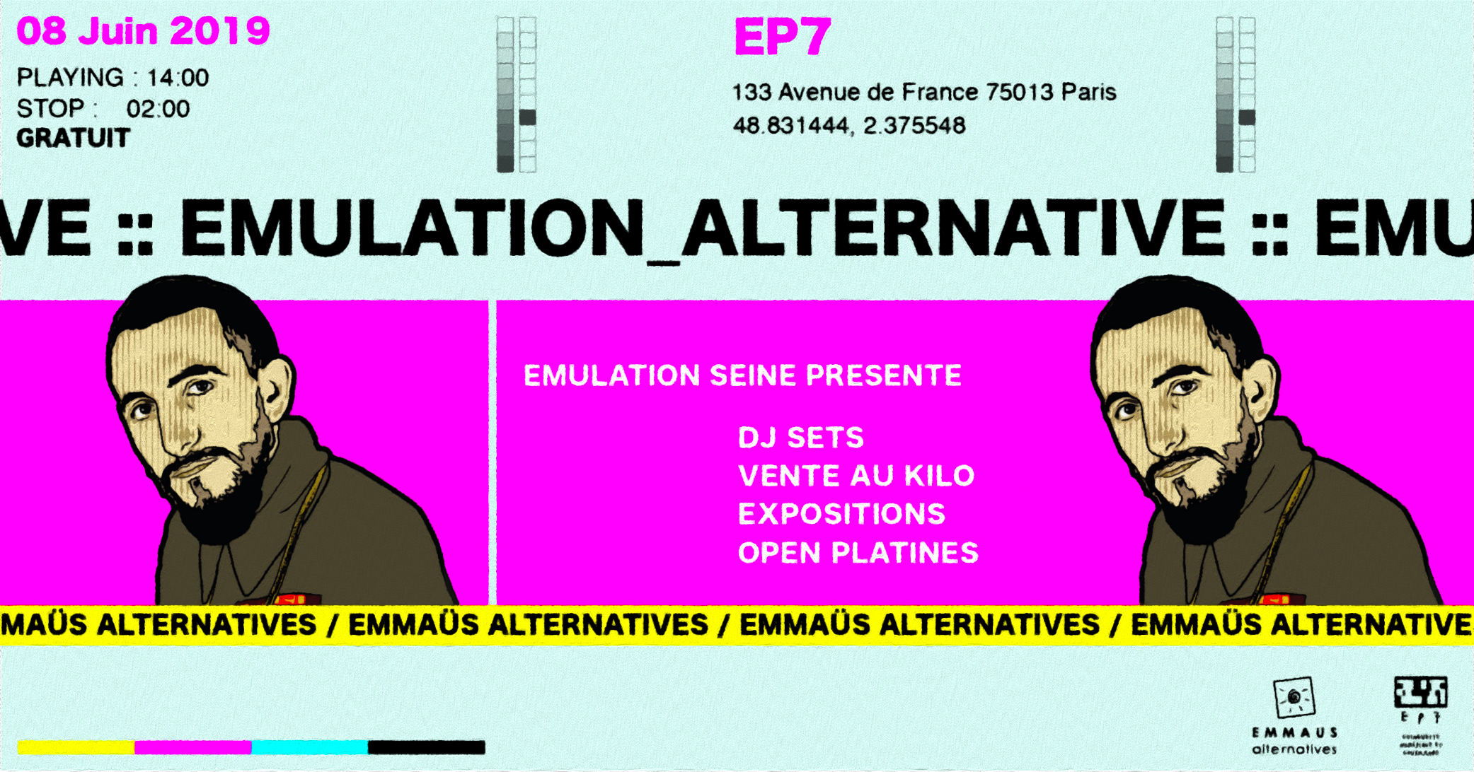 Emulation Seine x Emmaüs alternative: Emulation Alternative