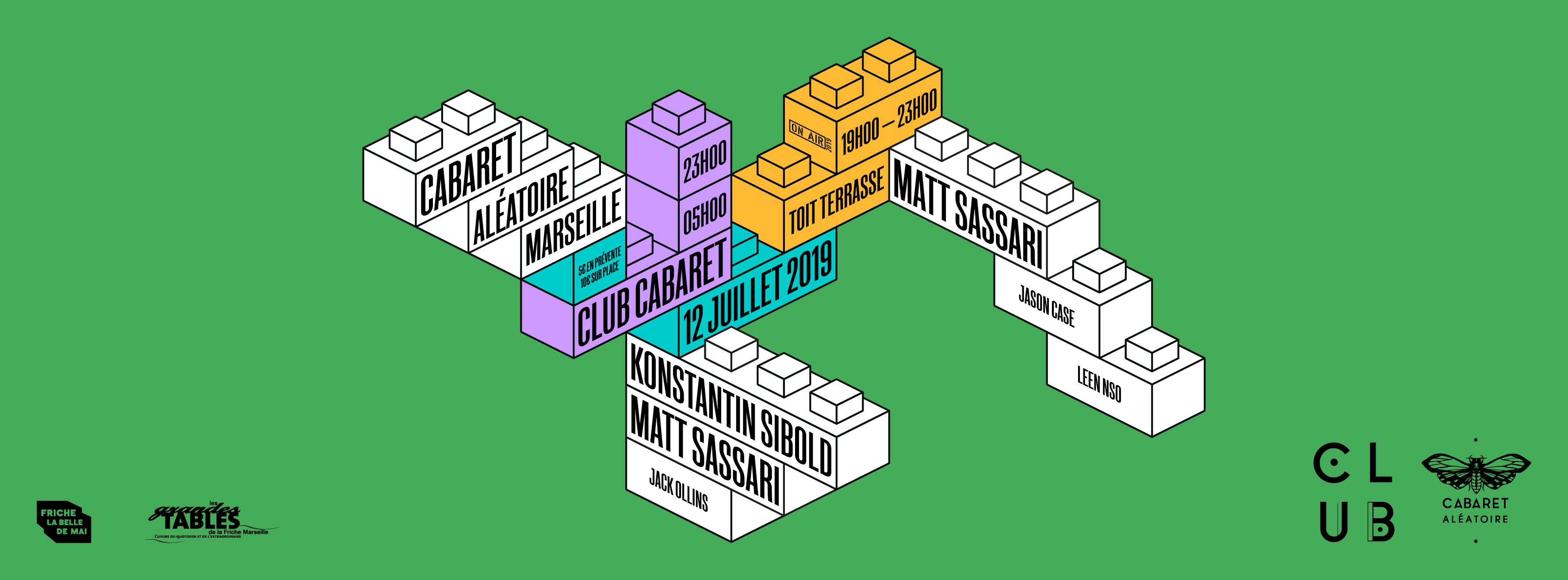 Club Cabaret X : Jack Ollins + Konstantin Sibold + Matt Sassari