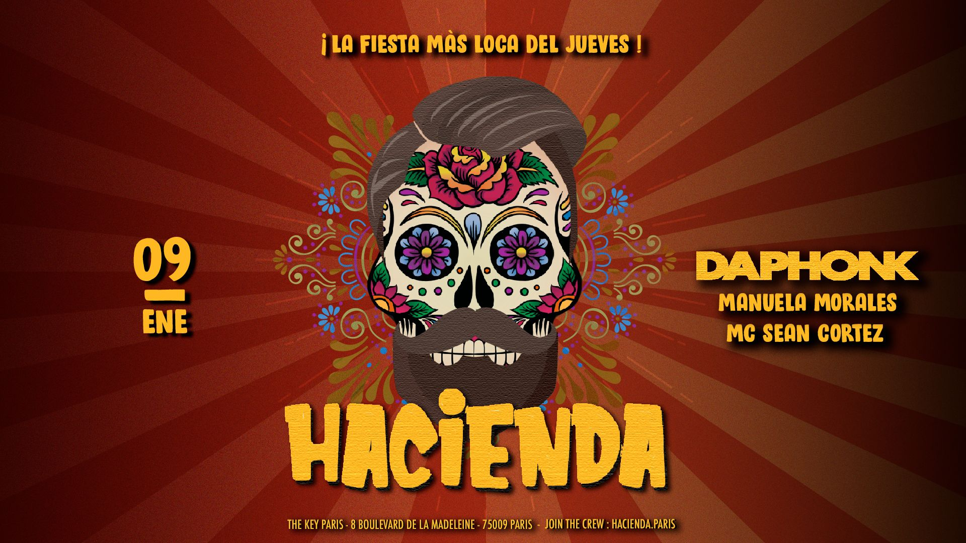 Hacienda : Da Phonk (Special Guest) ᚕ Jueves 9 de Enero