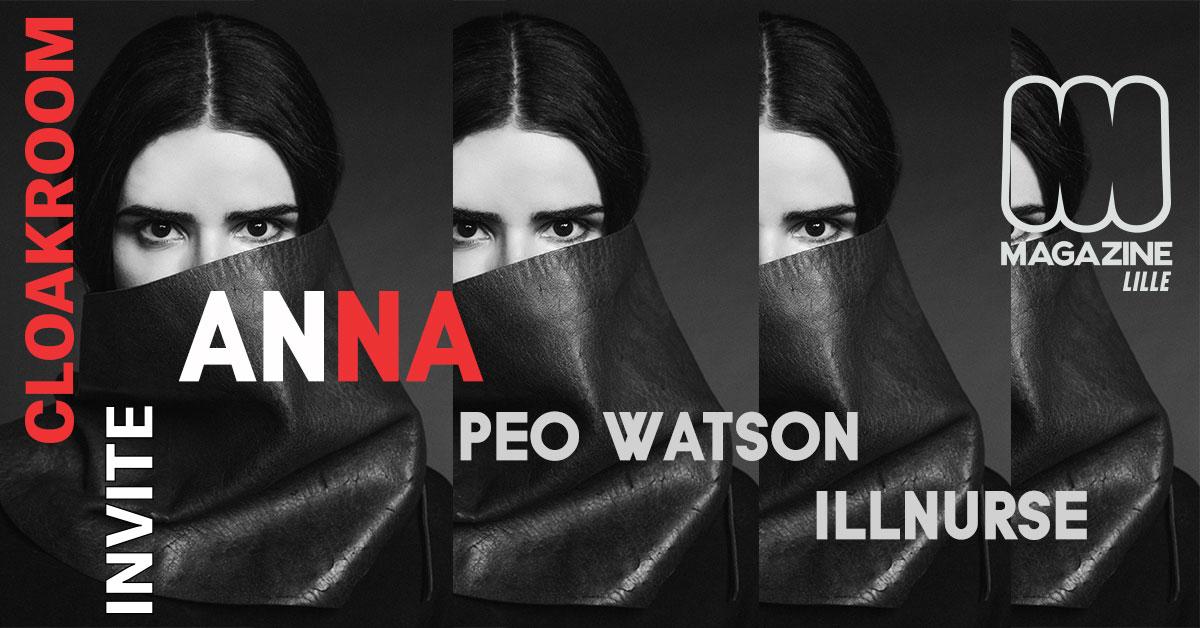 Cloakroom Invite Anna , Illnurse , Peo watson