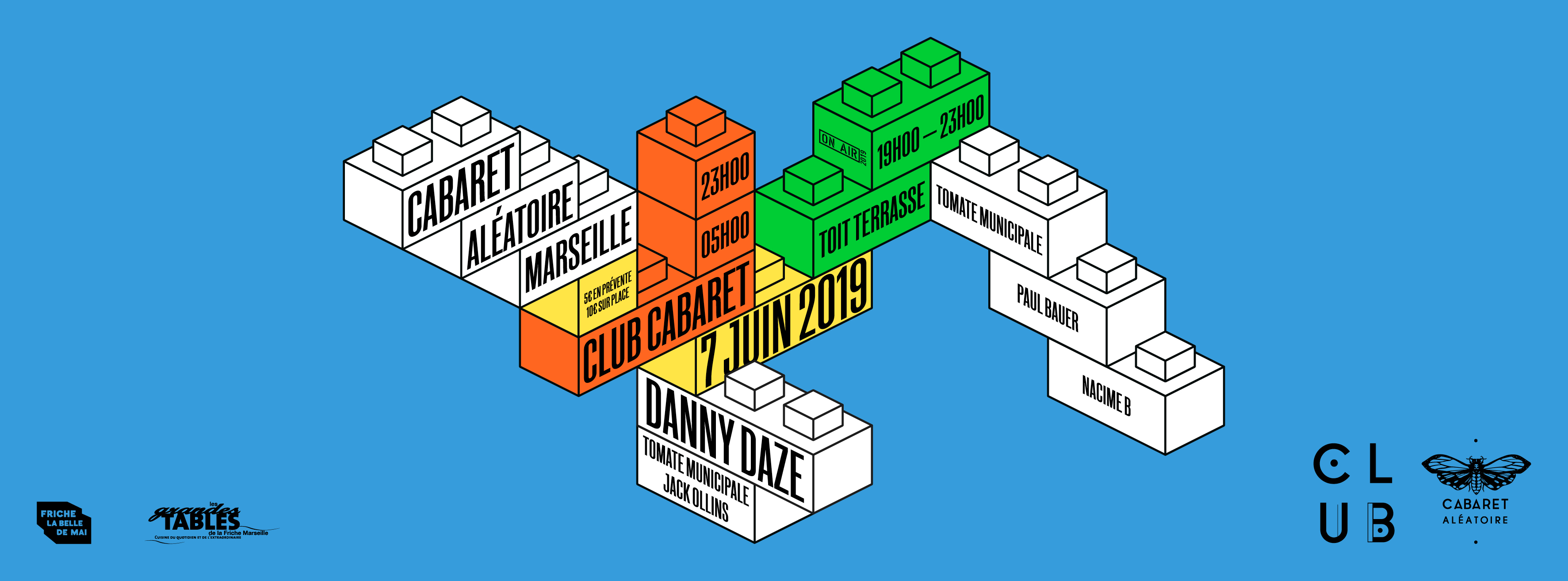 Club Cabaret X : Danny Daze + Tomate Municipale + Jack Ollins