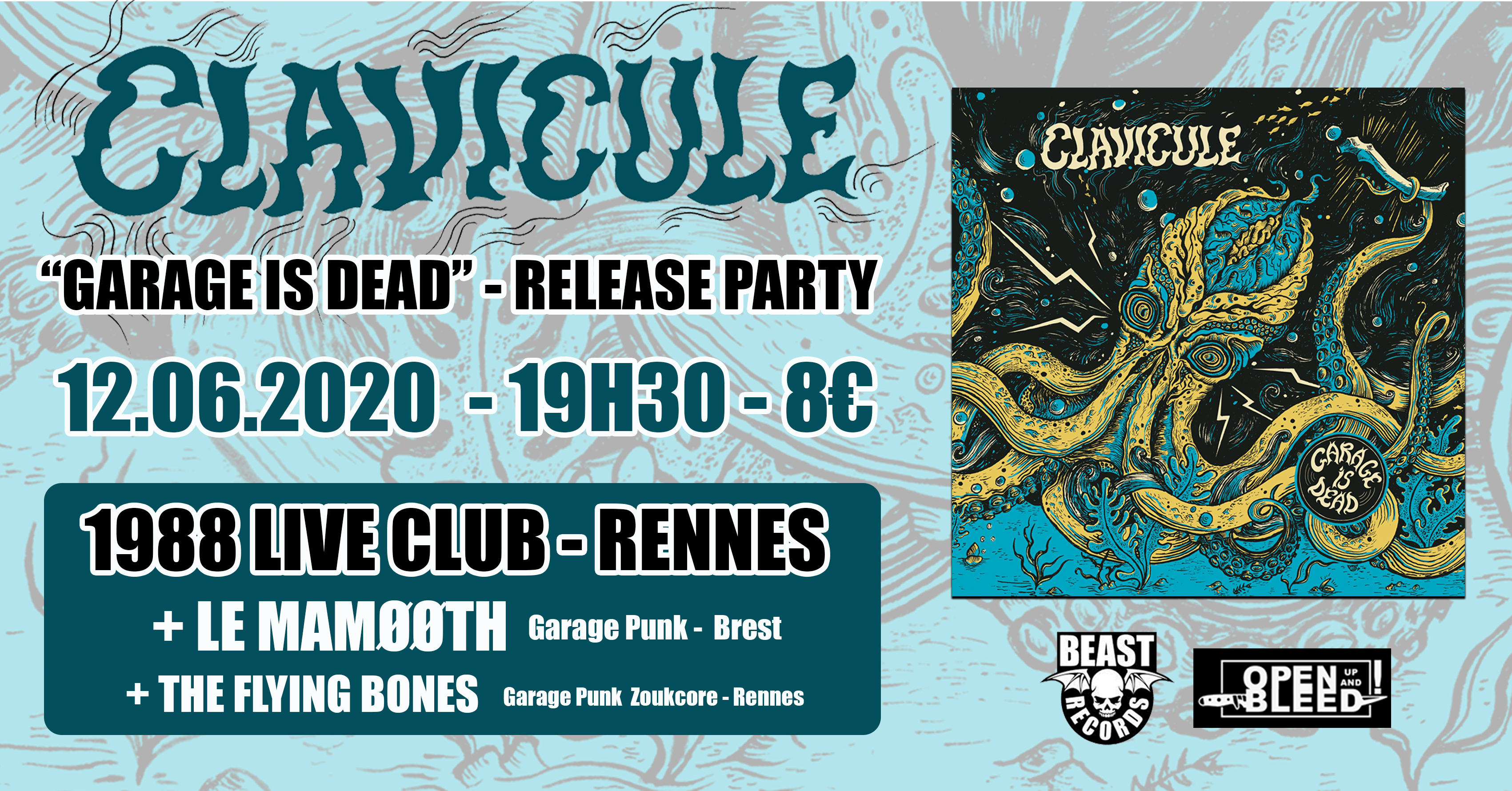 CLAVICULE - RELEASE PARTY