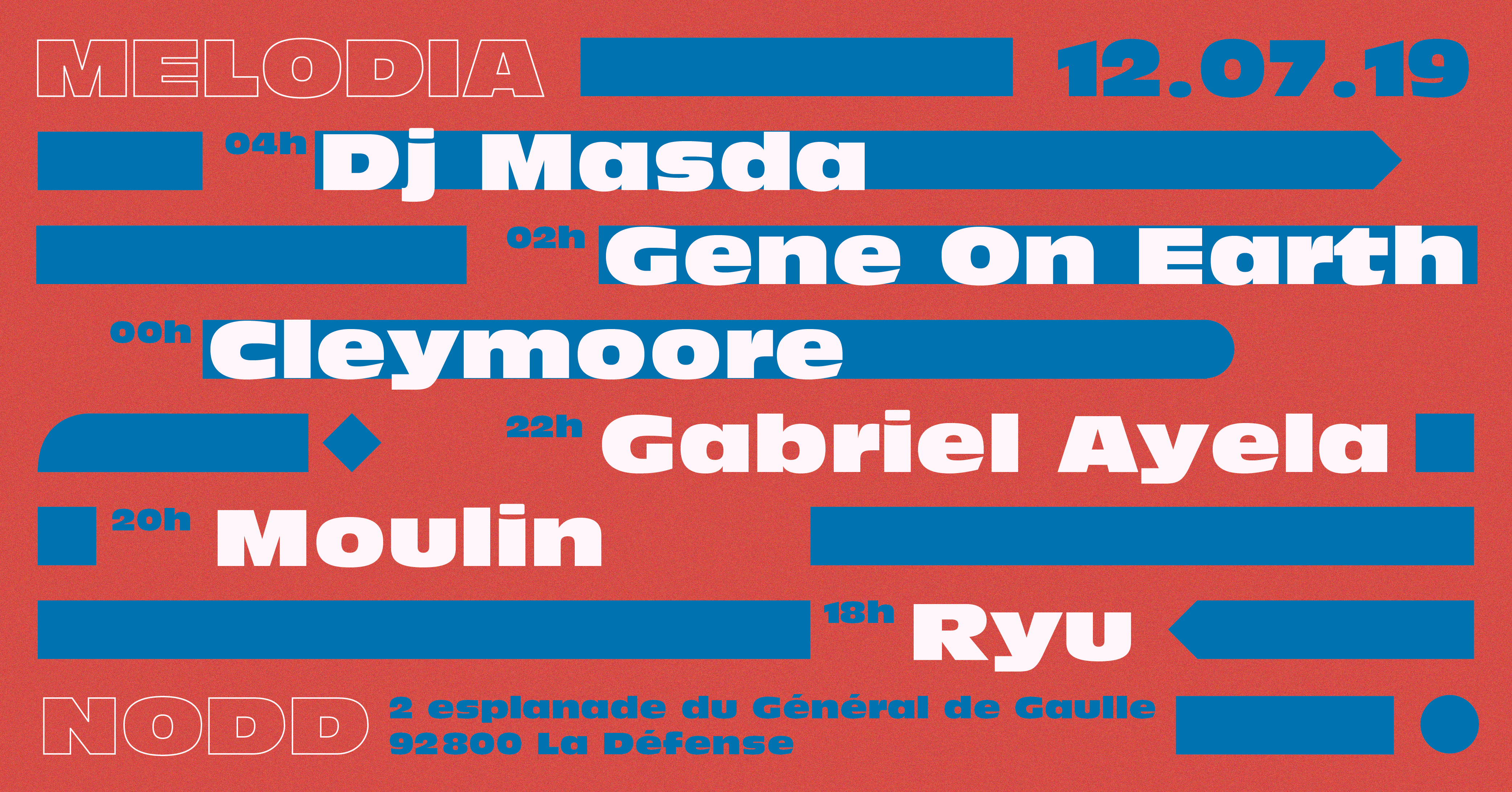 Melodia : DJ Masda, Gene On Earth, Cleymoore and more