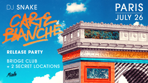 DJ SNAKE - CARTE BLANCHE RELEASE PARTY