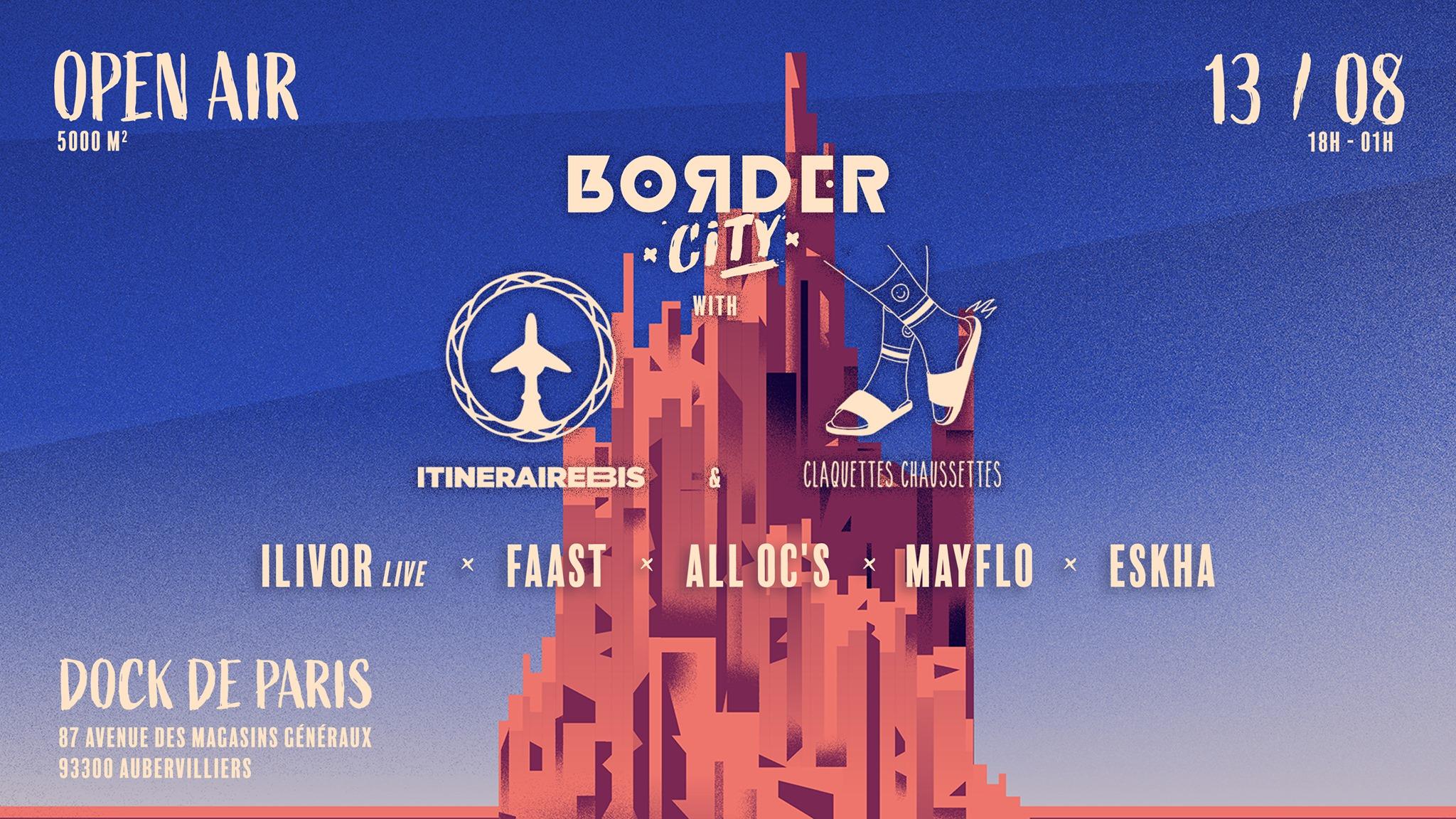 Border CIty x ItinéraireBis x Claquettes Chaussettes