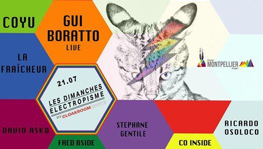 Les dimanches electropisme Coyu Gui Boratto (live) La Fraicheur