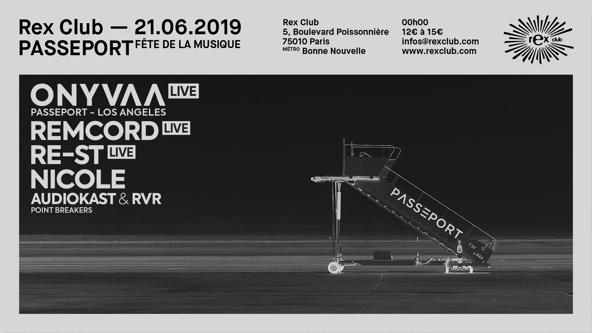 Passeport Special Fete De La Musique: Onyvaa Live & more