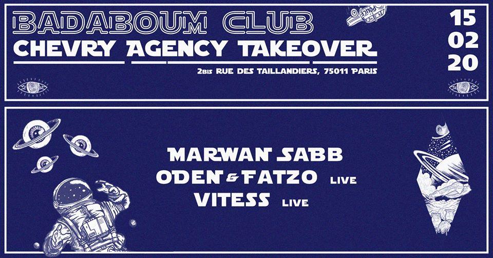 Badaboum Club : Oden & Fatzo Live, Vitess Live, Marwan Sabb