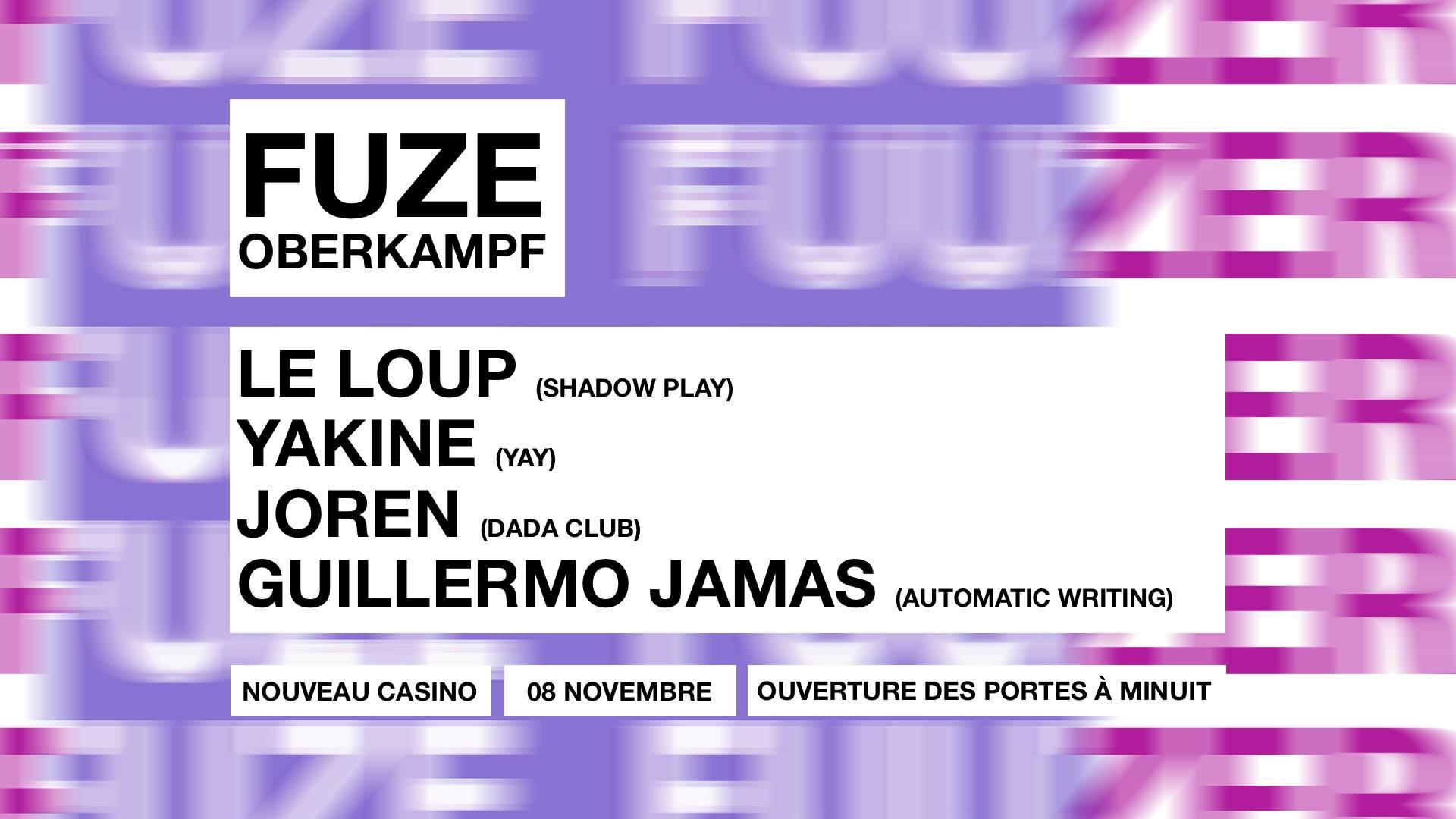 FUZE Oberkampf : Le Loup, Yakine, Joren, Guillermo Jamas